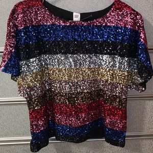Gap colorful sequenced top